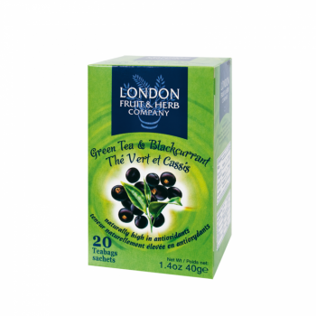 Čaj London Fruit and Herb Green Tea with Blackcurrant