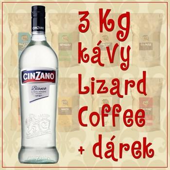 Káva Lizard Coffee tři kilogramy s dárkem
