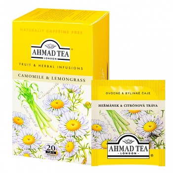 Čaj Ahmad Tea Camomile & lemongrass