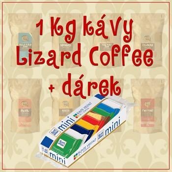 Káva Lizard Coffee jeden kilogram s dárkem
